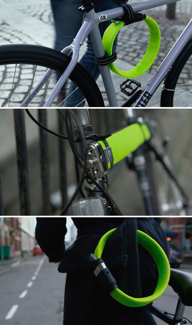 Litelok, un candado de seguridad para bicicletas flexible, ligero y muy resistente