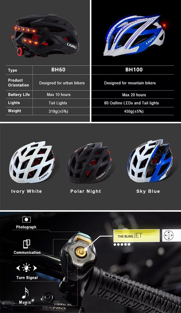 Livall BH60 y BH100, nuevas versiones para este casco 'conectado' con iluminación, altavoces, micrófono y giroscopio de 3 ejes