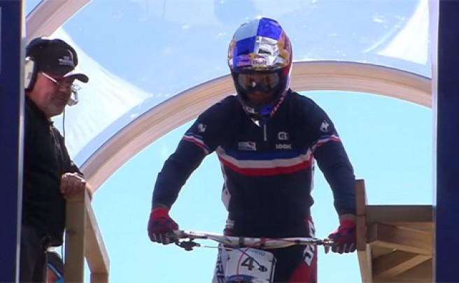 Así fue el descenso ganador de Loïc Bruni en el Campeonato del Mundo de DH de Vallnord (Andorra)