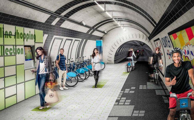 London Underline: Ciclovías en los túneles abandonados del metro de Londres