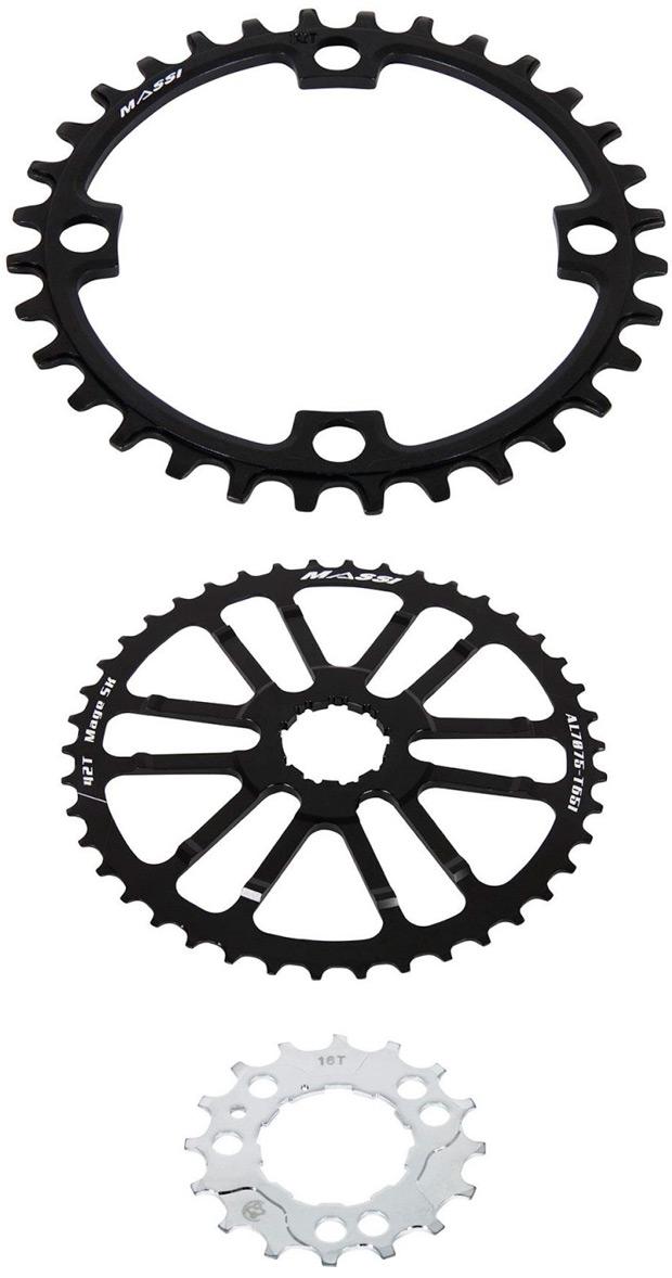 Nuevo (y económico) kit de conversión monoplato de MASSI Bikes