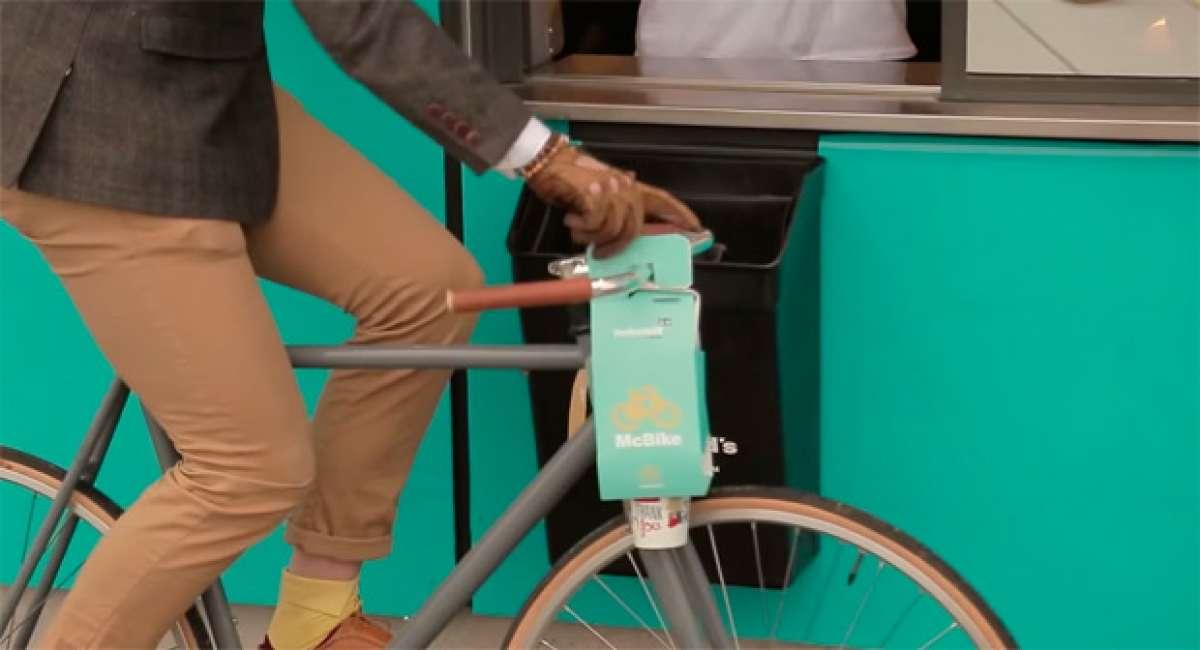 """McBike, la nueva apuesta de McDonald""""s para los ciclistas amantes de las hamburguesas"""