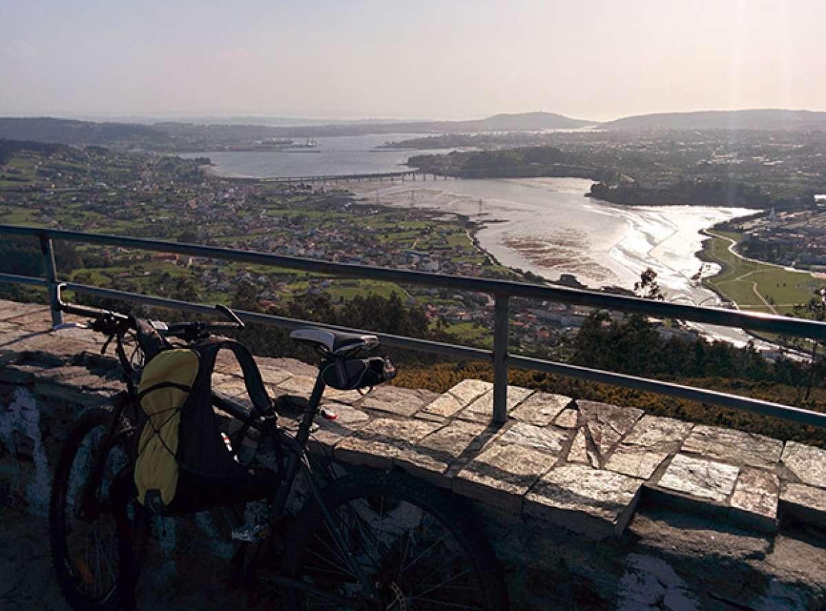 """La foto del día en TodoMountainBike: """"La Ría de Ferrol desde el Monte Ancos"""""""