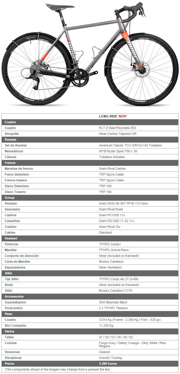 """Niner RLT 9 Steel """"Long Ride"""", una bicicleta para disfrutar como nunca del cicloturismo"""