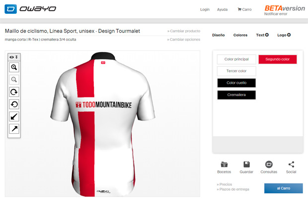 Nueva herramienta de personalización 3D para las equipaciones ciclistas de Owayo