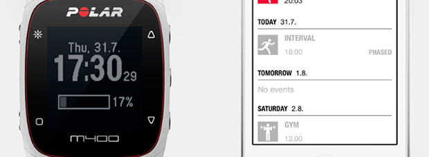 Notificaciones inteligentes desde el teléfono móvil con la última actualización del Polar M400