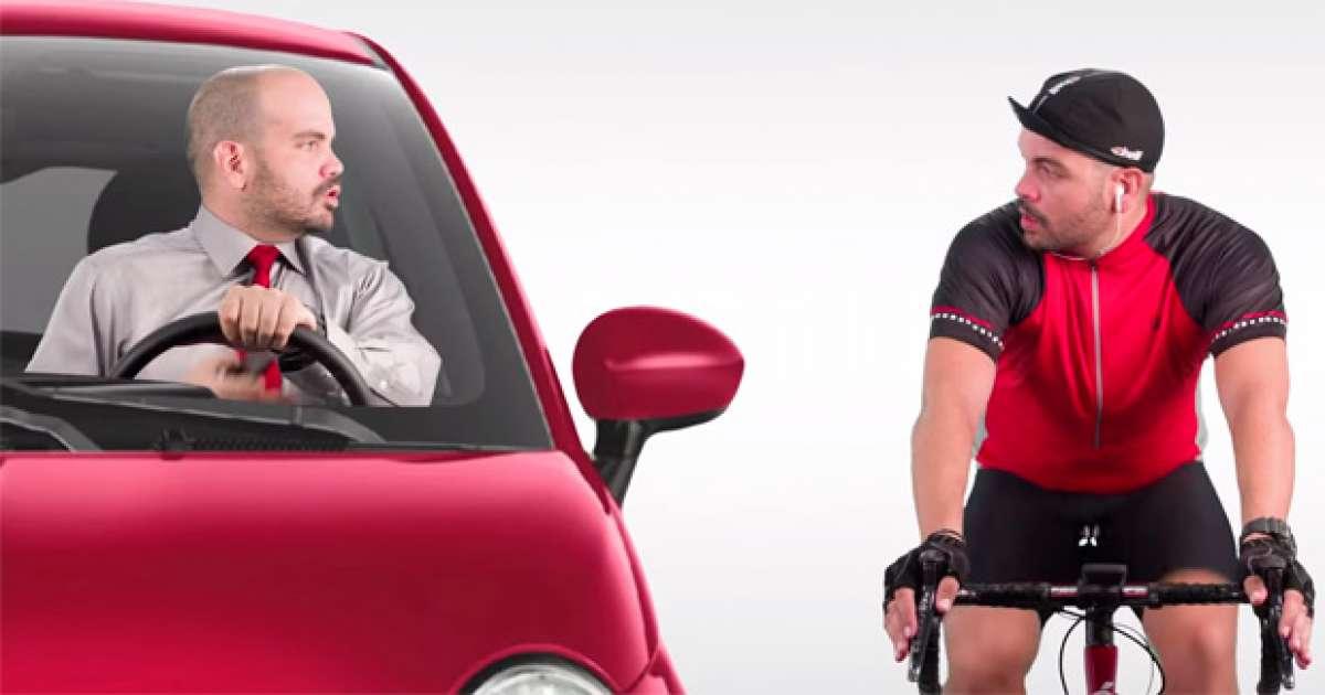 'Ponte en mis pedales', una genial campaña de concienciación vial para ciclistas y conductores