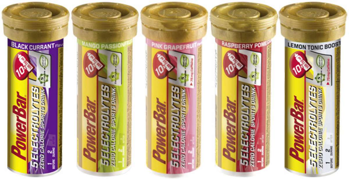 Grosella y Limón-Tónica, los nuevos sabores de las tabletas PowerBar 5Electrolytes