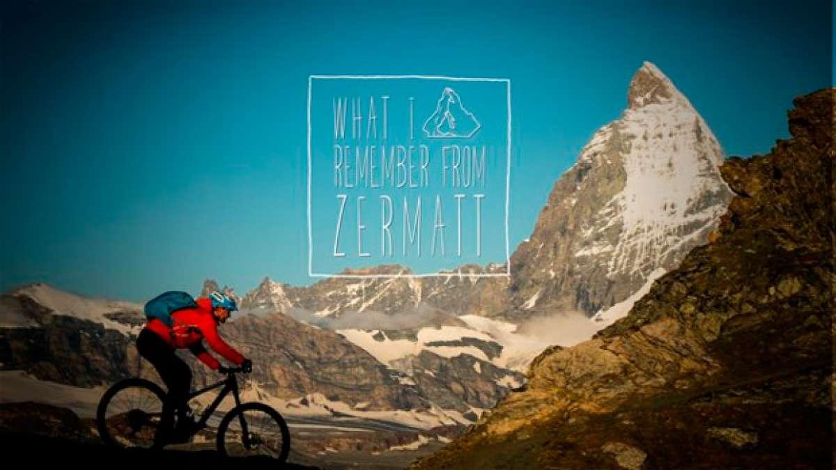Practicando Mountain Bike en la comuna suiza de Zermatt