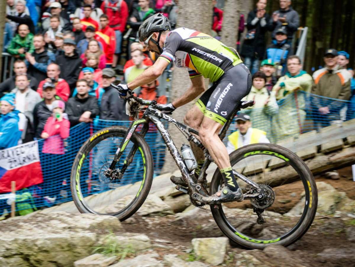 Así es la nueva doble de Merida estrenada por José Antonio Hermida en la Copa del Mundo UCI XCO