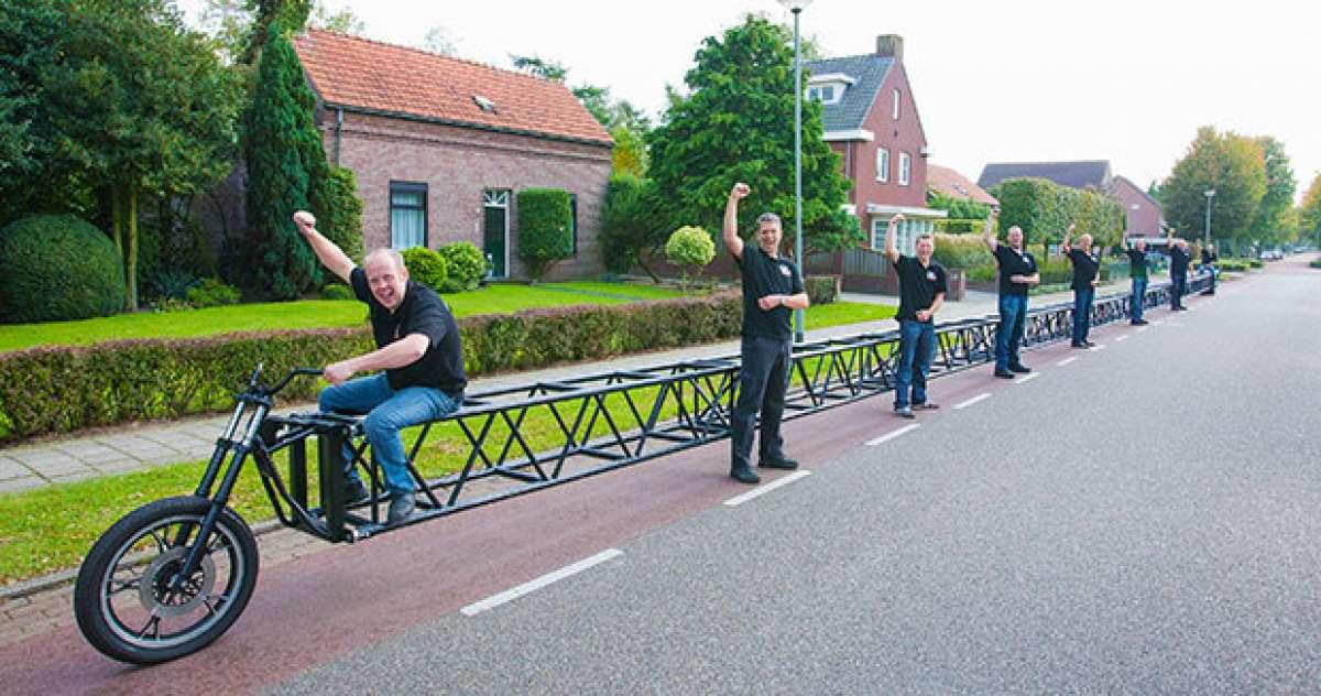 Así es la bicicleta más larga del mundo