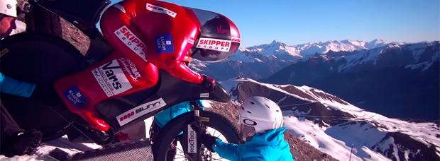A 223 km/h, el nuevo récord de velocidad sobre una bicicleta del 'Barón Rojo'