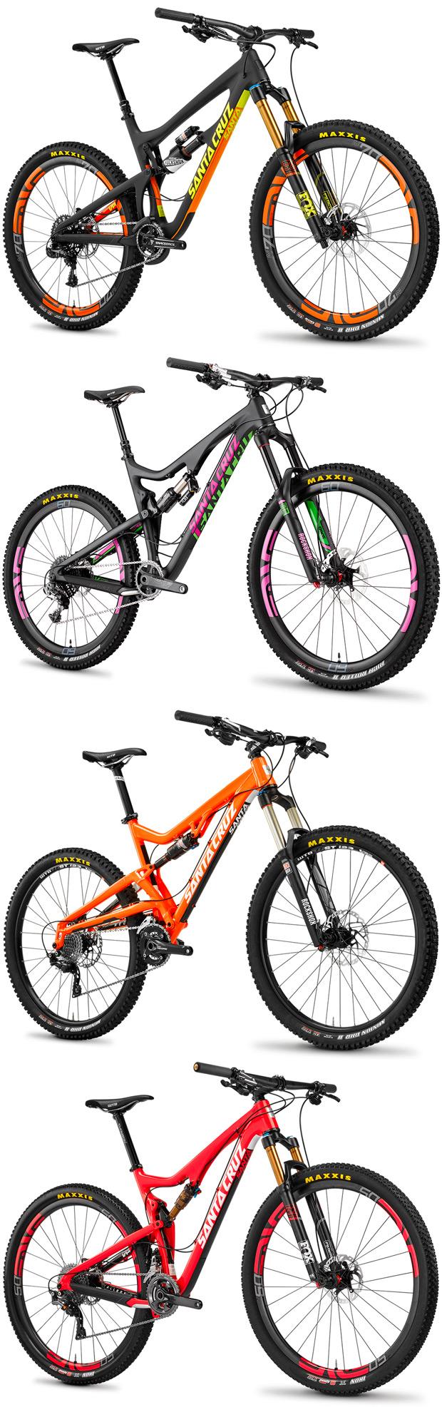 Nuevos colores y montajes para las bicicletas de Santa Cruz... y ...