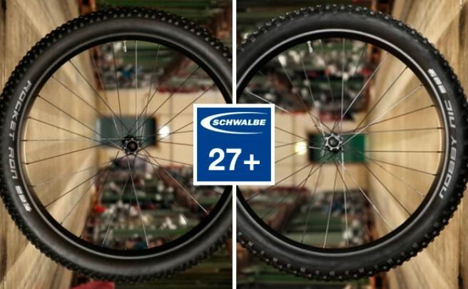 Nueva medida 27.5+ para las cubiertas Schwalbe Nobby Nic y Rocket Ron