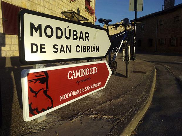 El 'Camino del Cid', ya señalizado en las carreteras de la provincia de Burgos