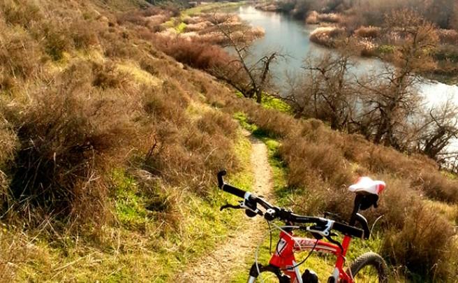 La foto del día en TodoMountainBike: 'Sobre el río Jarama'