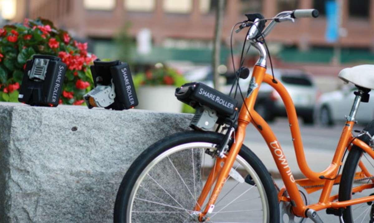 ShareRoller, un dispositivo portátil para convertir cualquier bicicleta en una flamante e-Bike