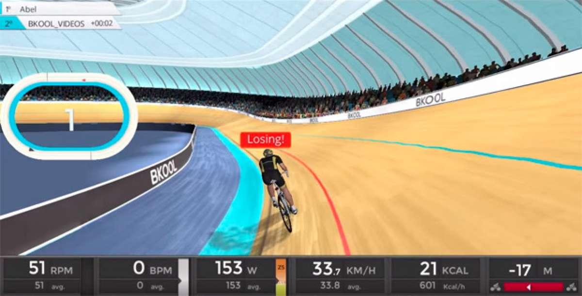 Juegos de velódromo y equipaciones personalizadas, algunas de las mejoras del simulador de Bkool