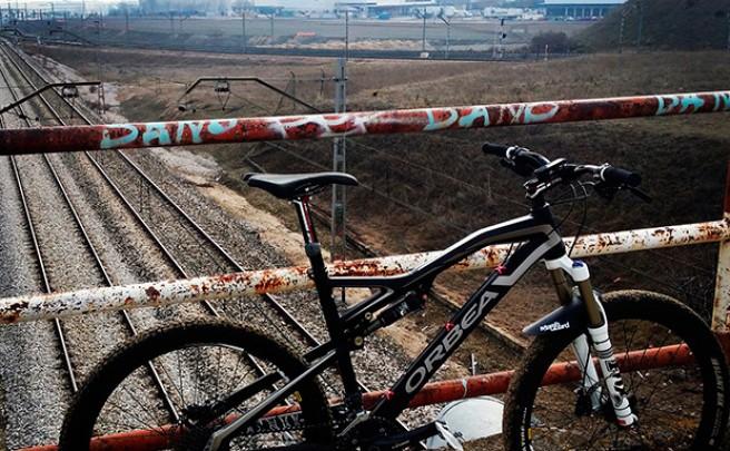 La foto del día en TodoMountainBike: 'Sobre la vía'