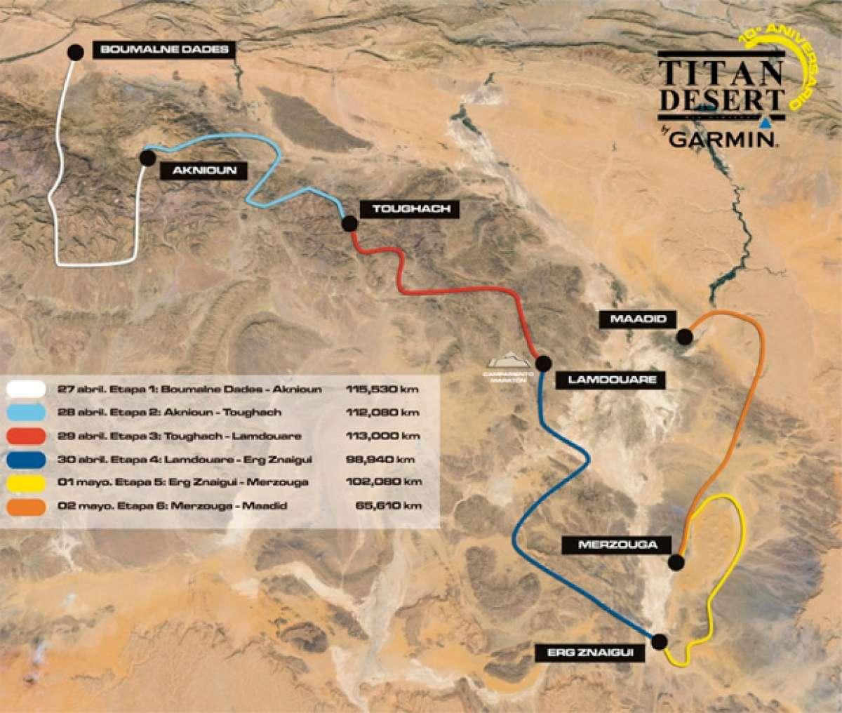 Titan Desert 2015: Alta montaña, desierto extremo y navegación para el recorrido de su décima edición