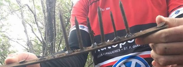 Alerta en Cataluña: Trampas para ciclistas en la zona de Sant Gregori (Girona)