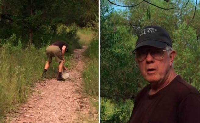 Con las manos en la masa: Un vecino de Cottonwood (Arizona) pillado poniendo piedras en un sendero
