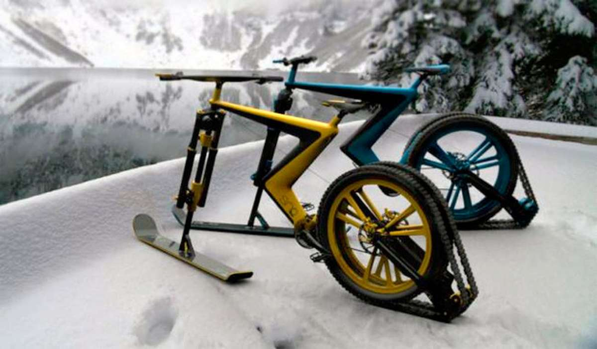 La Sno Bike del estudio Venn. ¿Serán así las bicicletas para la nieve en un futuro próximo?