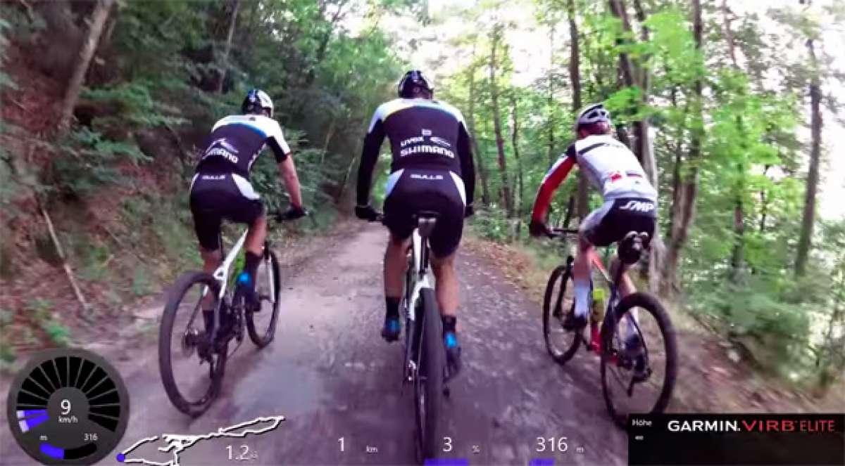 55 minutos de vídeo subjetivo para entrenar sobre el rodillo con el Team Bulls Mountain Bike Cycling
