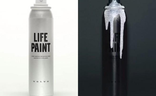 Volvo LifePaint, un aerosol reflectante para convertir ciclistas en luciérnagas humanas