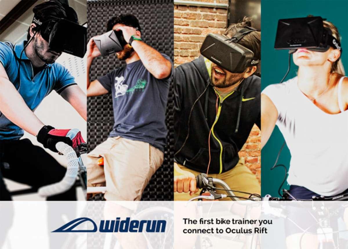 Widerun, un rodillo conectado a Oculus Rift que acerca la realidad virtual a los entrenamientos indoor