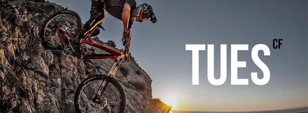 YT Tues CF 2015: Nuevo cuadro de carbono para la máquina de DH de YT Industries