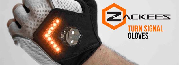 Zackees, unos guantes con iluminación LED integrada para mejorar la seguridad de los deportistas