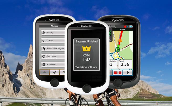 Los Mio Cyclo 505/500/315/310, ahora con segmentos de Strava en tiempo real