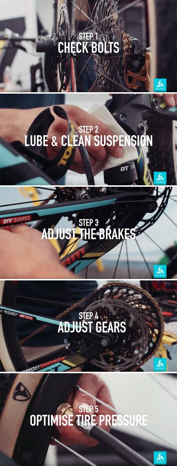 Así se ajusta una bicicleta de competición antes de una carrera