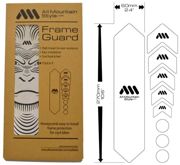 En TodoMountainBike: AMS Frame Guard APE, un nuevo protector de cuadro muy 'mono'