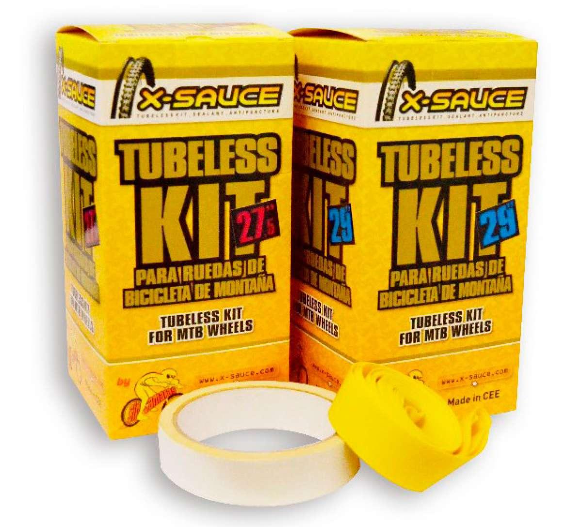 Dos anchos nuevos para los kits Tubeless de X-Sauce