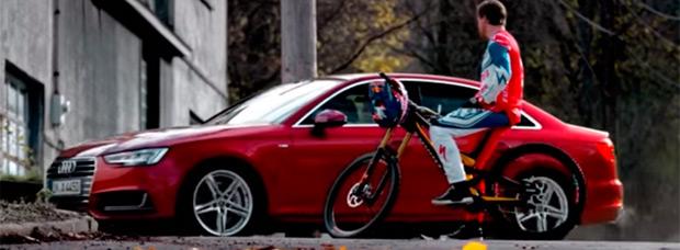 Aaron Gwin, Bene Mayr, Mattias Ekström y Heikki Sorsa en el nuevo anuncio de Audi Quattro
