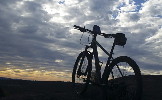 La foto del día en TodoMountainBike: 'Atardecer desde los montes ourensanos'