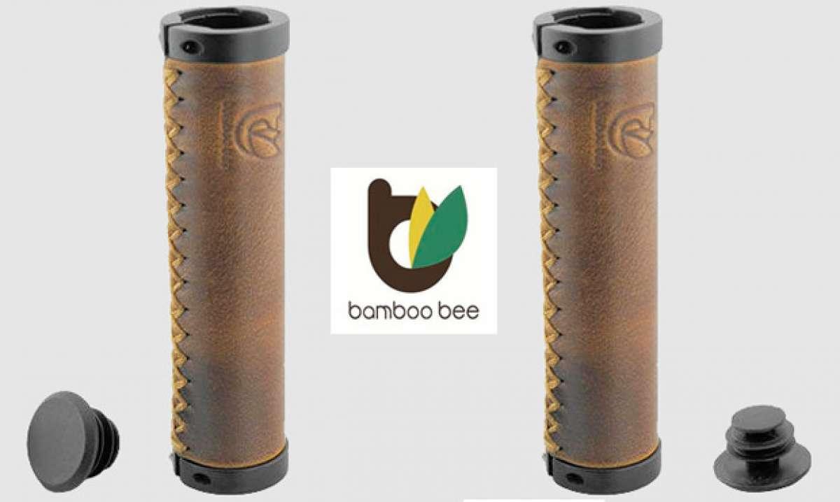 Bamboo Bee, puños de cuero genuino para ciclistas exquisitos