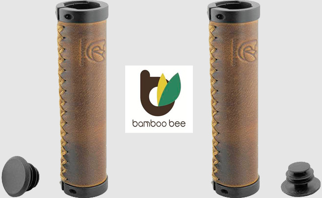 Bamboo Bee, puños de cuero genuino para ciclistas exquisitos