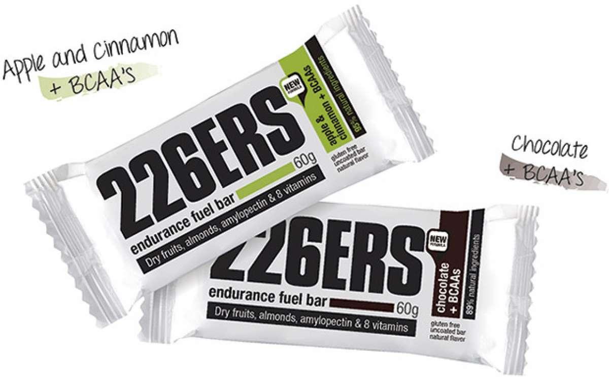"""Más sabores enriquecidos con BCAA""""s para las barritas energéticas Endurance Fuel de 226ERS"""