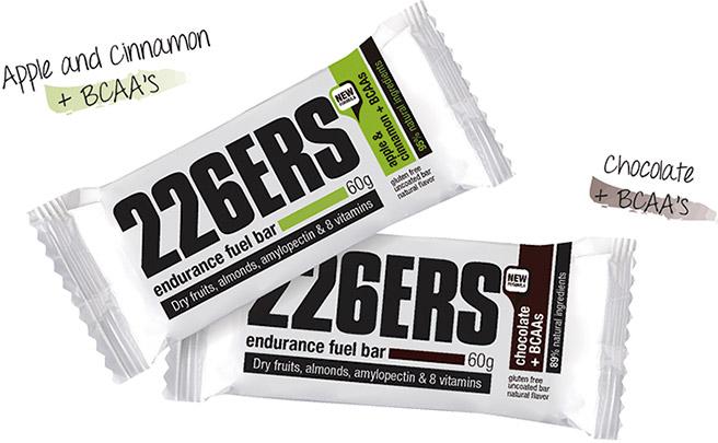 Más sabores enriquecidos con BCAA's para las barritas energéticas Endurance Fuel de 226ERS
