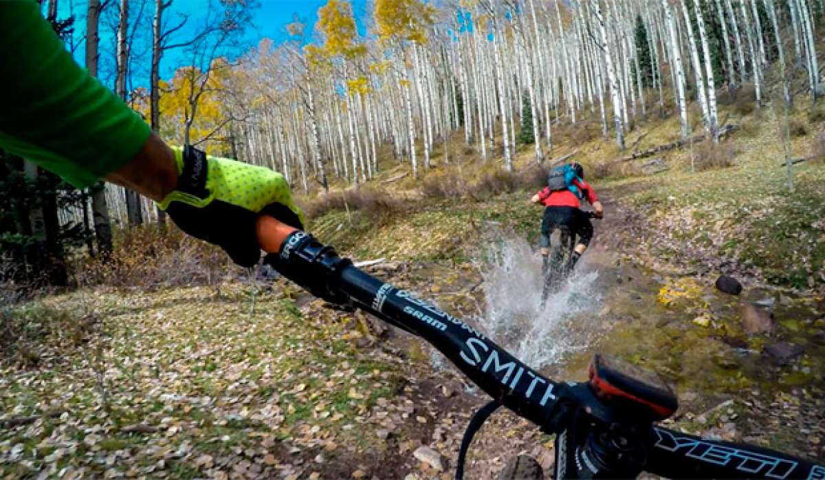 Rodando por el Burro Pass Trail (Moab, Utah) con Nate Hills y Mike Hall