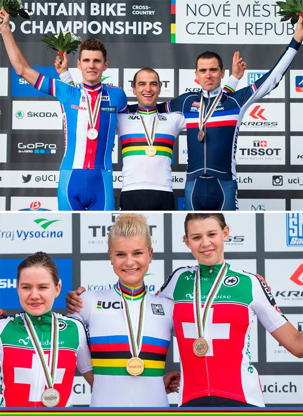 Nino Schurter y Annika Langvad, Campeones del Mundo XCO de 2016