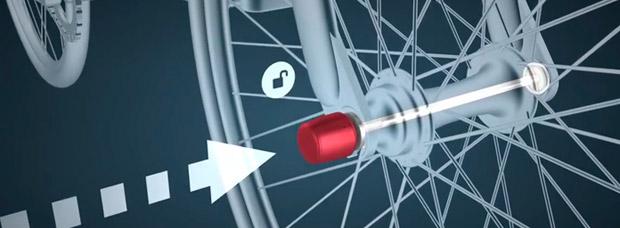 ABUS NutFix, nuevo candado antirrobo para asegurar sillines y ruedas de bicicleta