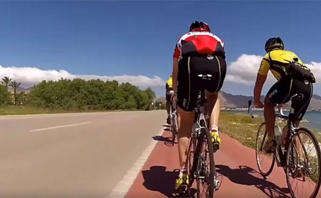 Sesenta minutos de pedaleo subjetivo por Cap Formentor (Mallorca) para nuestros entrenamientos en rodillo