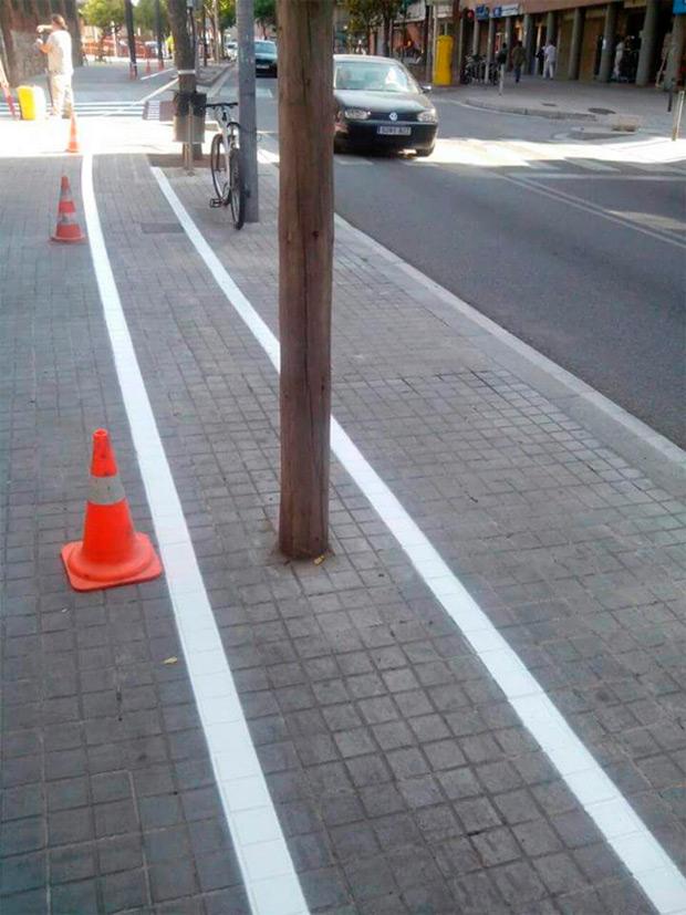 Así es el carril bici del nuevo 'Anillo Deportivo' de Parets del Vallés (Barcelona)