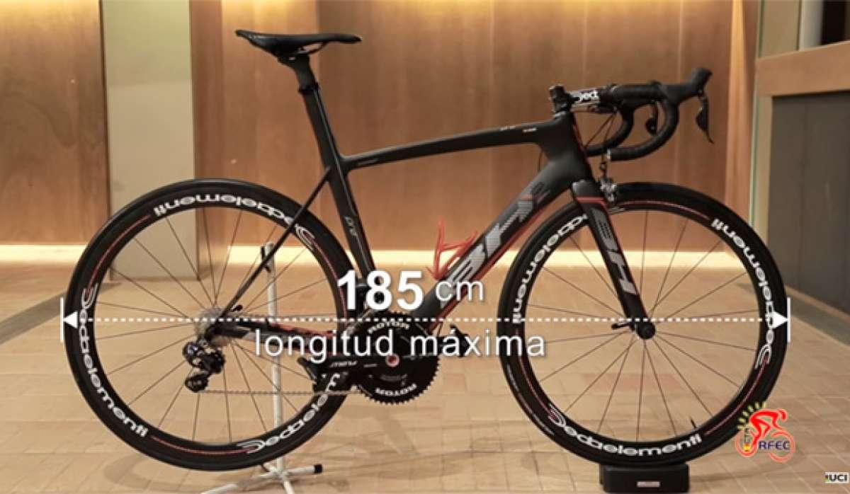 Así controlan los comisarios de la RFEC las bicicletas de carretera según el reglamento de la UCI