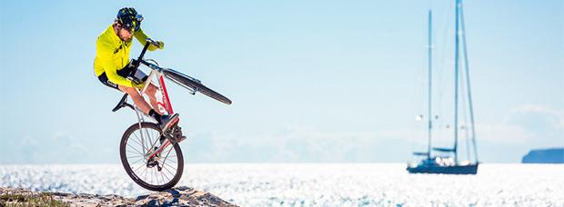 David Cachon rodando en Formentera (Islas Baleares)