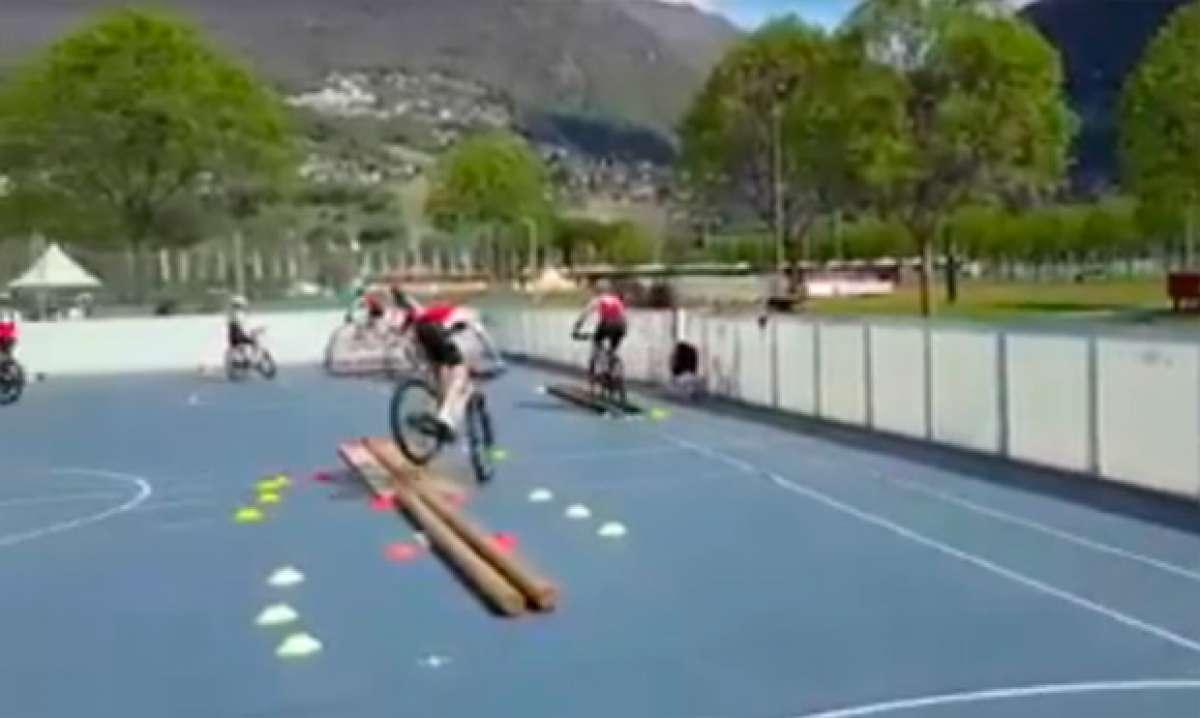 Así se entrenan los jóvenes ciclistas de Suiza